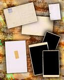 Photo Frames on Dirty Colorful Background