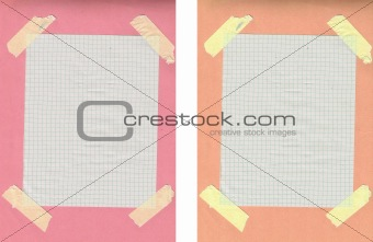 Old Paper Notes with Colorful Background
