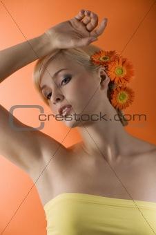 blond girl posing