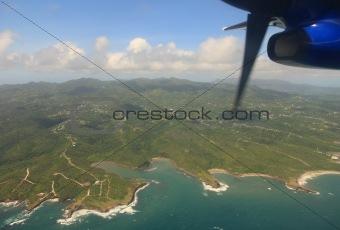Aerial view of Grenada