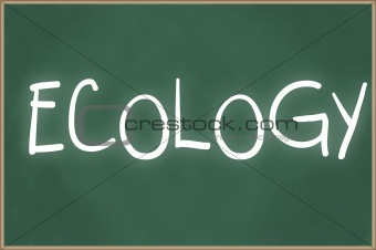 Chalkboard with text ecology