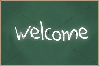 Chalkboard with text welcome