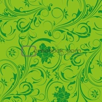 green flower seamless background