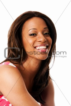 Smiling African woman face