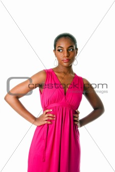 African business woman in dress