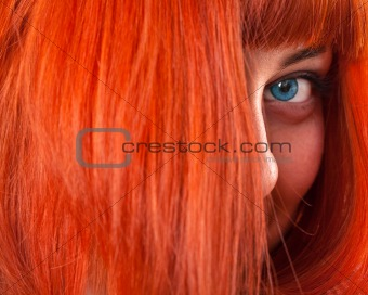Beauttiful woman with red hair
