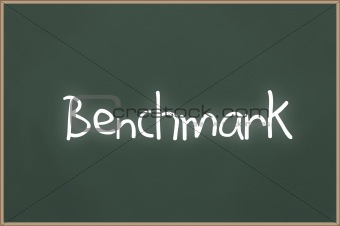 Chalkboard with text benchmark