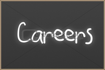 Chalkboard with text Careers