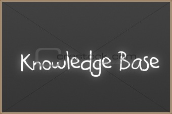 Chalkboard with text Knowledge Base