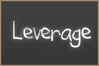 Chalkboard with text leverage