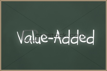 Chalkboard with text value-added