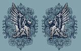 heraldic griffin design
