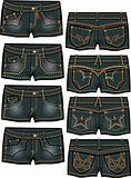 lady summer hot shorts denim