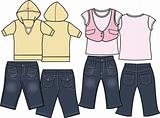 girl fashion casual wear set