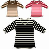 lady striped pattern t-shirt