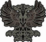 fancy eagle beaded artwork