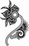tribal paisley flower illustration