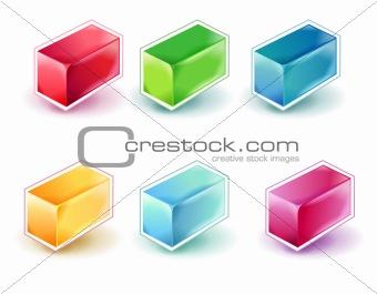 3d cube button