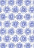 blue seamless flower pattern