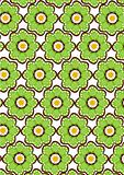 seamless green flower pattern