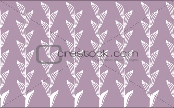 white leaf pattern in purple background