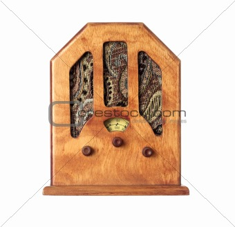 Beautiful old wooden radio