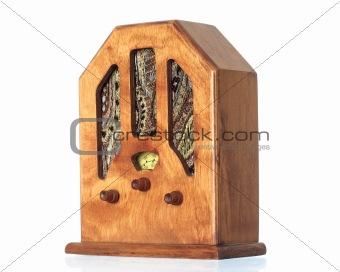 Beautiful old wooden radio