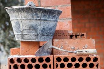 Bricks stacked