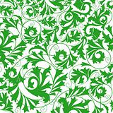 green flower seamless pattern