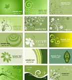Nature themed business cards