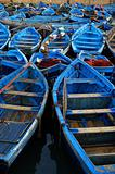 Colorful blue fishingboats