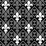 Fleur De Lis Pattern Black and White