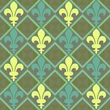 Fleur De Lis Pattern Green