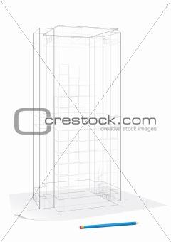 Corporate building sketch