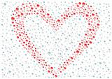 Drops_red_heart_background