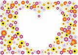 Flowers heart background