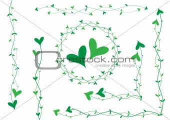 Green heart decoration
