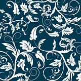blue seamless flower pattern