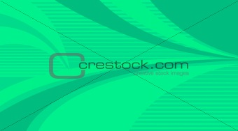 green stripe background and curves