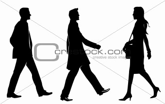 business human silhouette