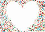White_heart_background