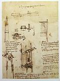 Leonardo's engineering drawing