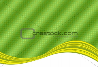 green stripe background and curve