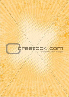 abstract orange ray background