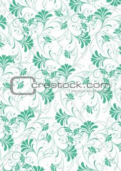 green flower seamless pattern