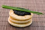 caviar on pancake