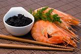 shrimps and caviar