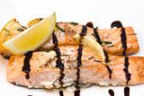 salmon with balsamic vinegar