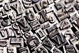 Print, fond, letters