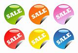 Glossy sale buttons
